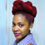 Twisted Bun Updo on Natural Hair
