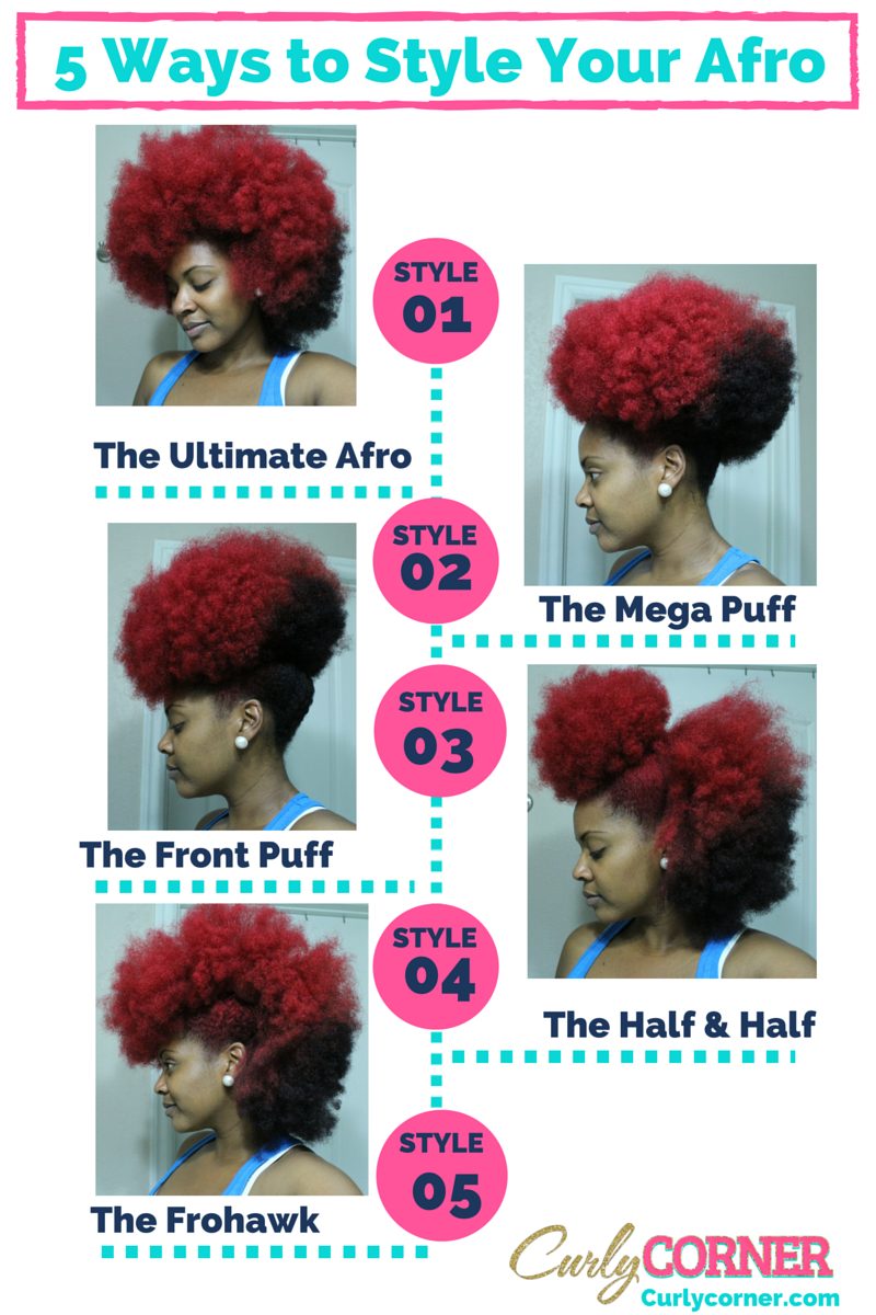 ways to style your hair 5 ways to style your fro pin curly corner 7579